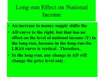long run effect on national income