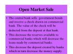 open market sale