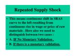 repeated supply shock
