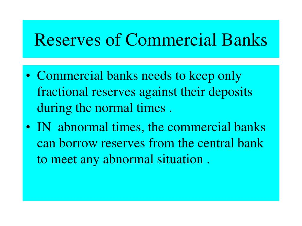 Reserves of Commercial Banks