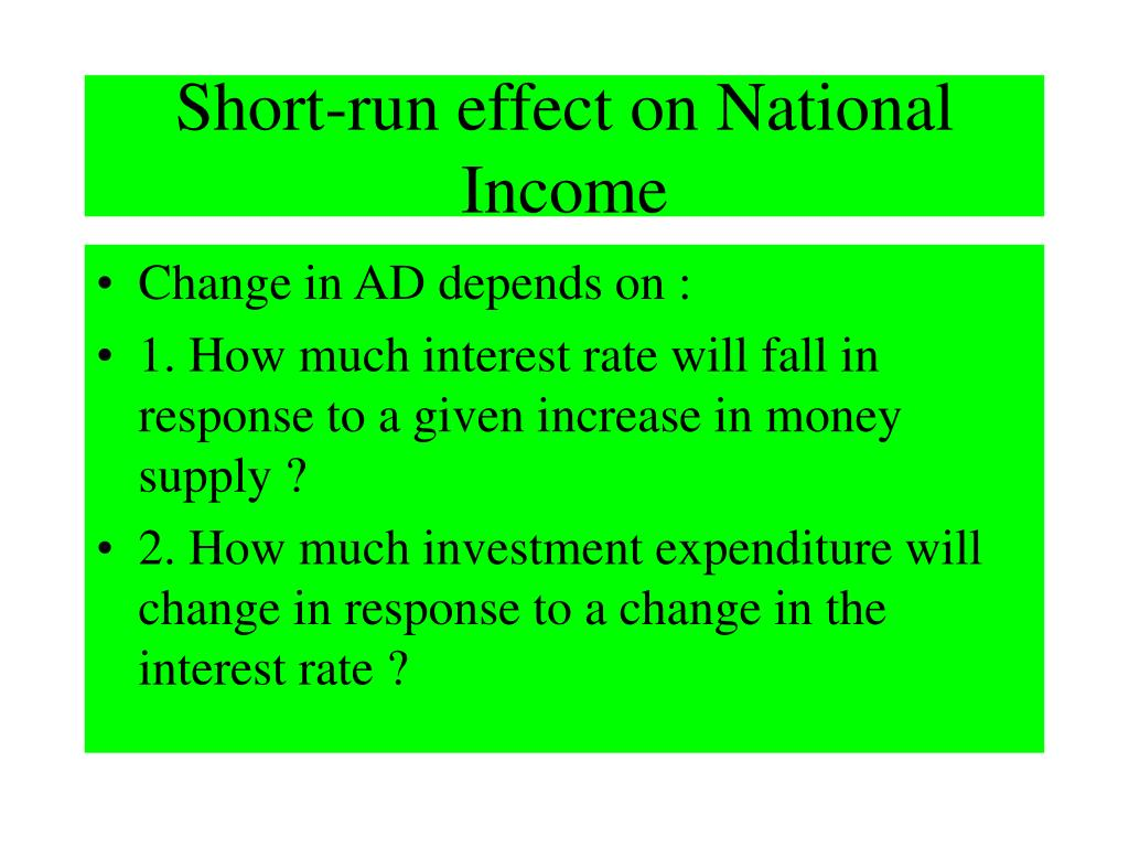 Short-run effect on National Income