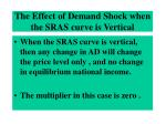 the effect of demand shock when the sras curve is vertical