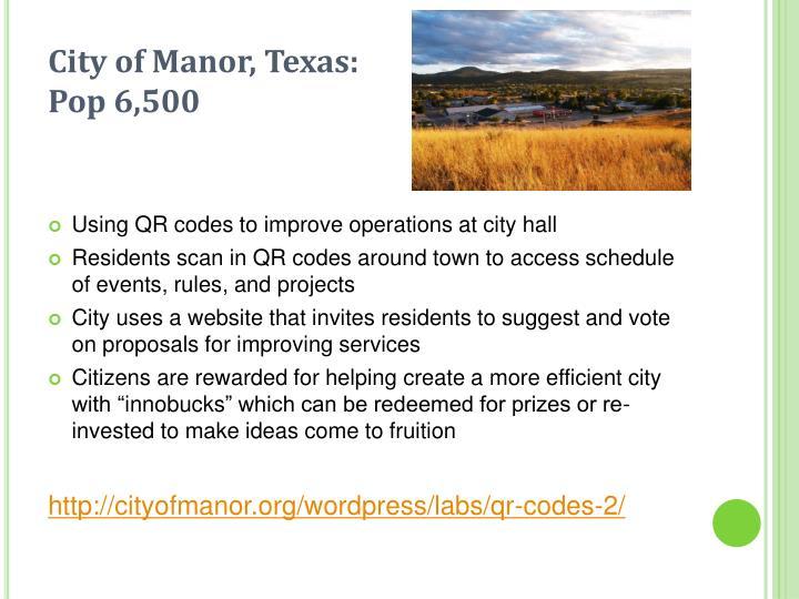 City of Manor, Texas: