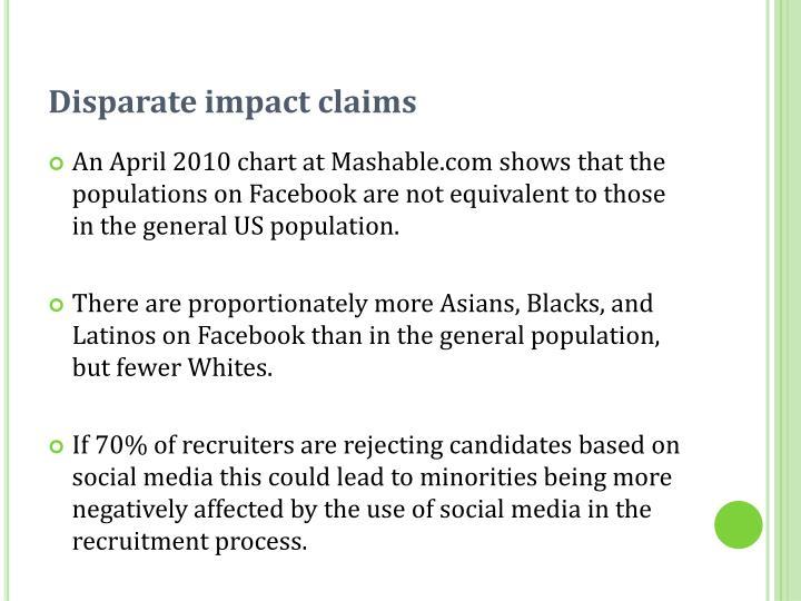 Disparate impact claims