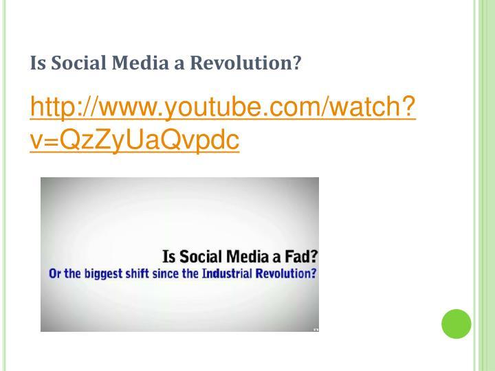 Is Social Media a Revolution?