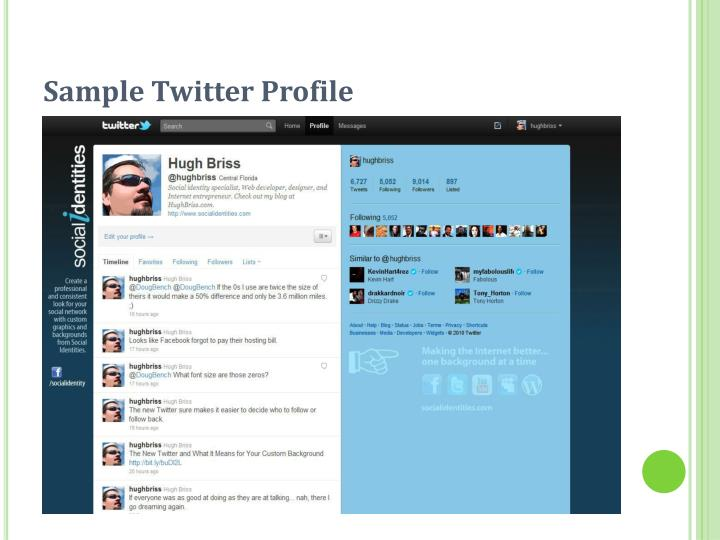 Sample Twitter Profile
