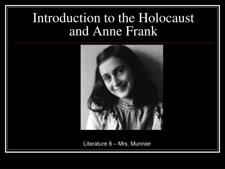 introduction to the holocaust and anne frank n.