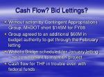 cash flow bid lettings
