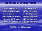 estimate of unmet needs
