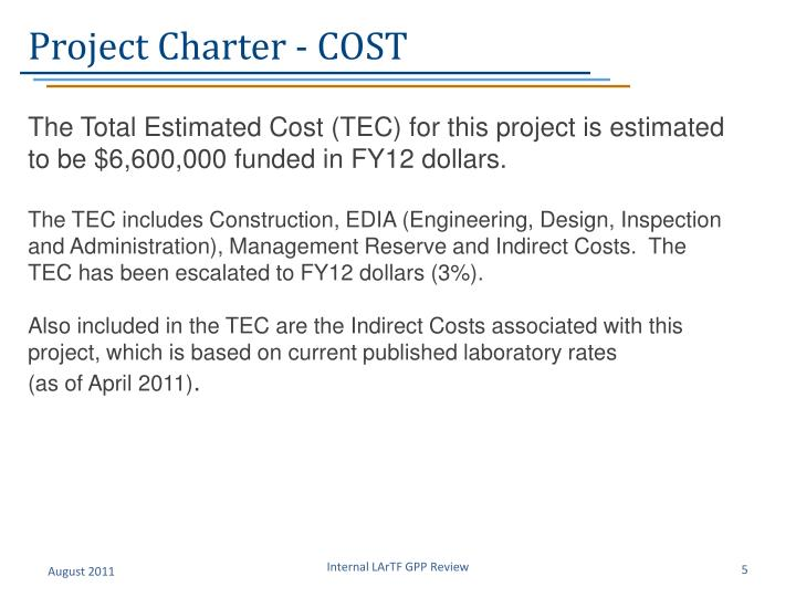 Project Charter - COST