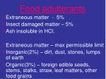 food adulterants