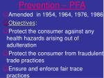 prevention pfa