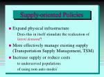 supply oriented policies