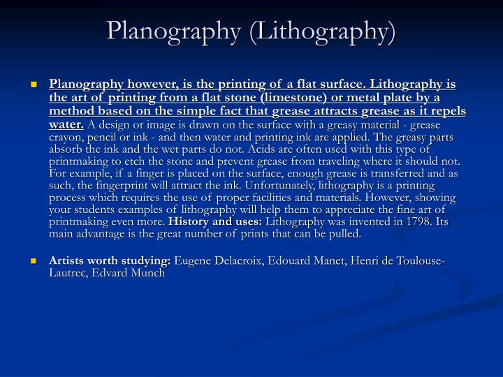 Planography (Lithography)