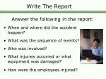 write the report26