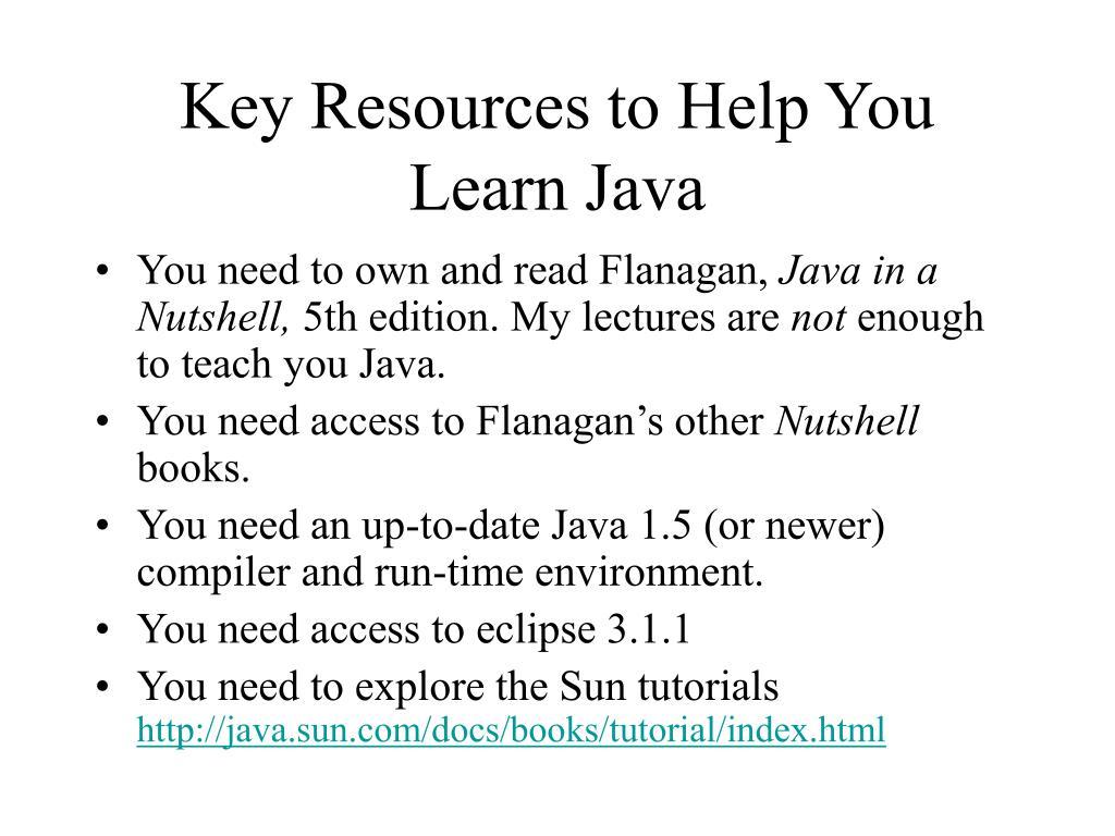 Java help docs