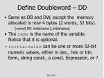 define doubleword dd