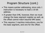 program structure cont3