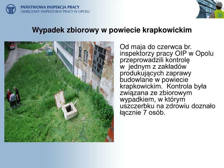 Wypadek zbiorowy w powiecie krapkowickim
