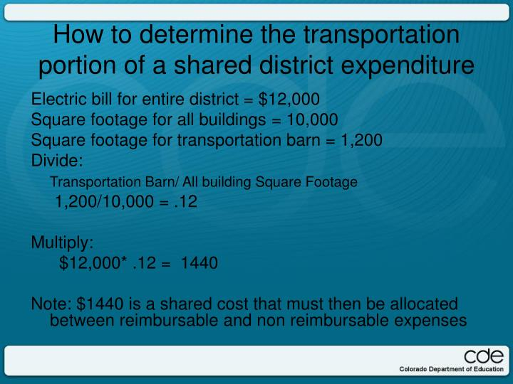 Electric bill for entire district = $12,000