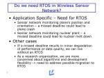 do we need rtos in wireless sensor network