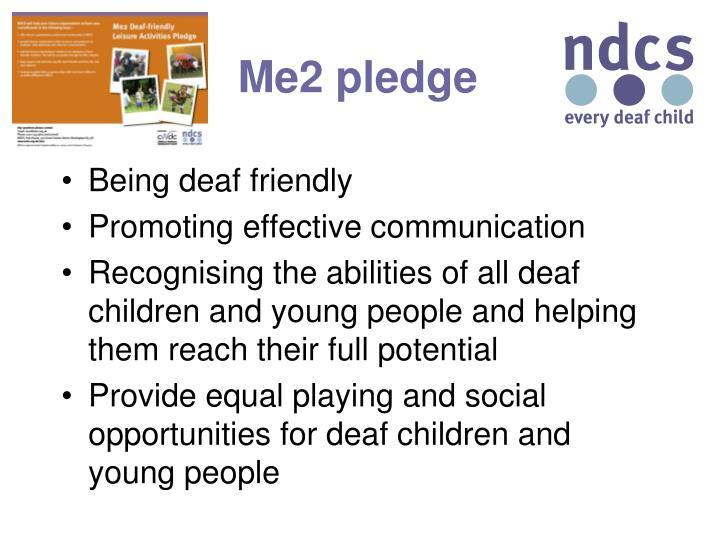 Me2 pledge