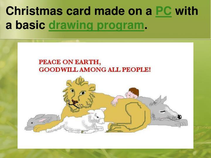 Christmas card made on a