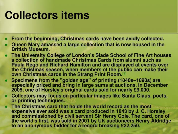 Collectors items