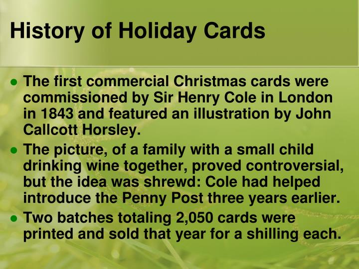History of holiday cards