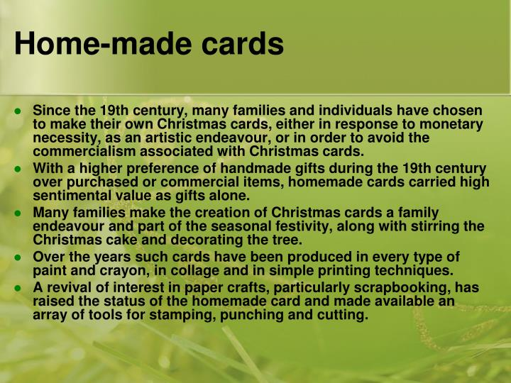 Home-made cards