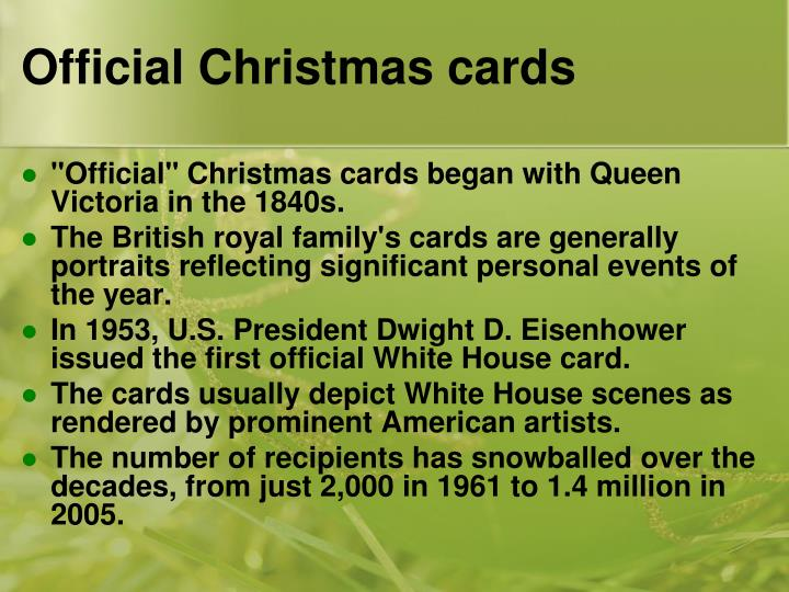 Official Christmas cards