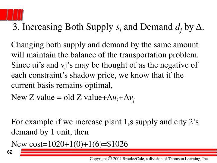 3. Increasing Both Supply