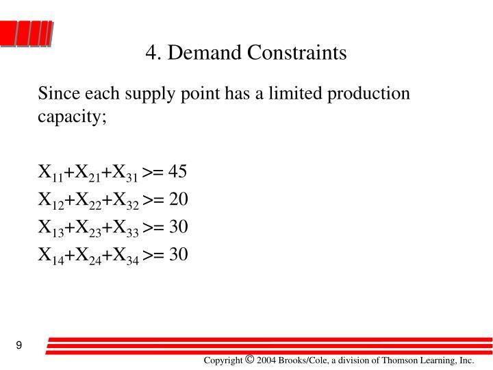 4. Demand Constraints