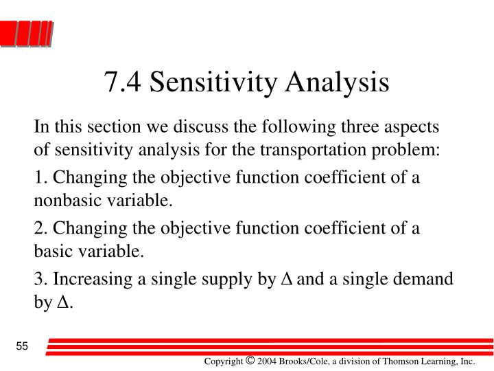 7.4 Sensitivity Analysis