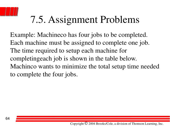 7.5. Assignment Problems