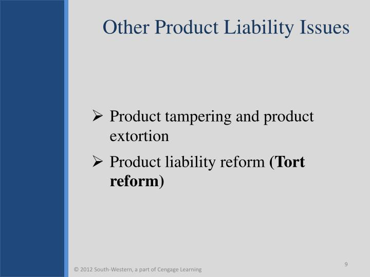 Other Product Liability Issues