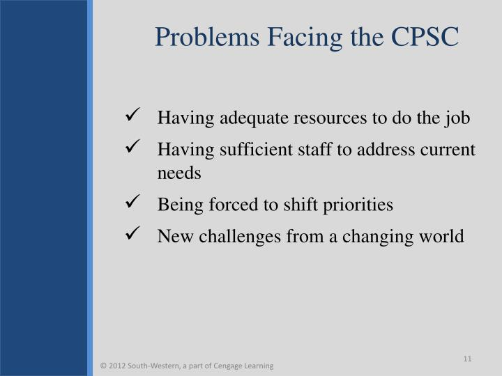 Problems Facing the CPSC