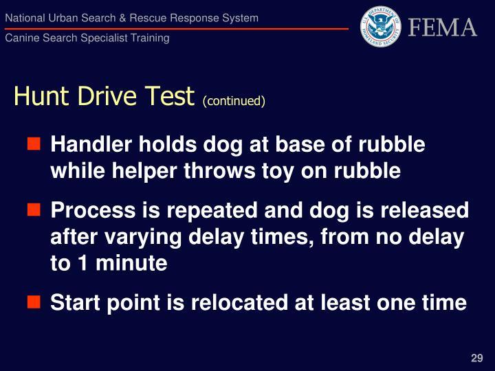 Hunt Drive Test