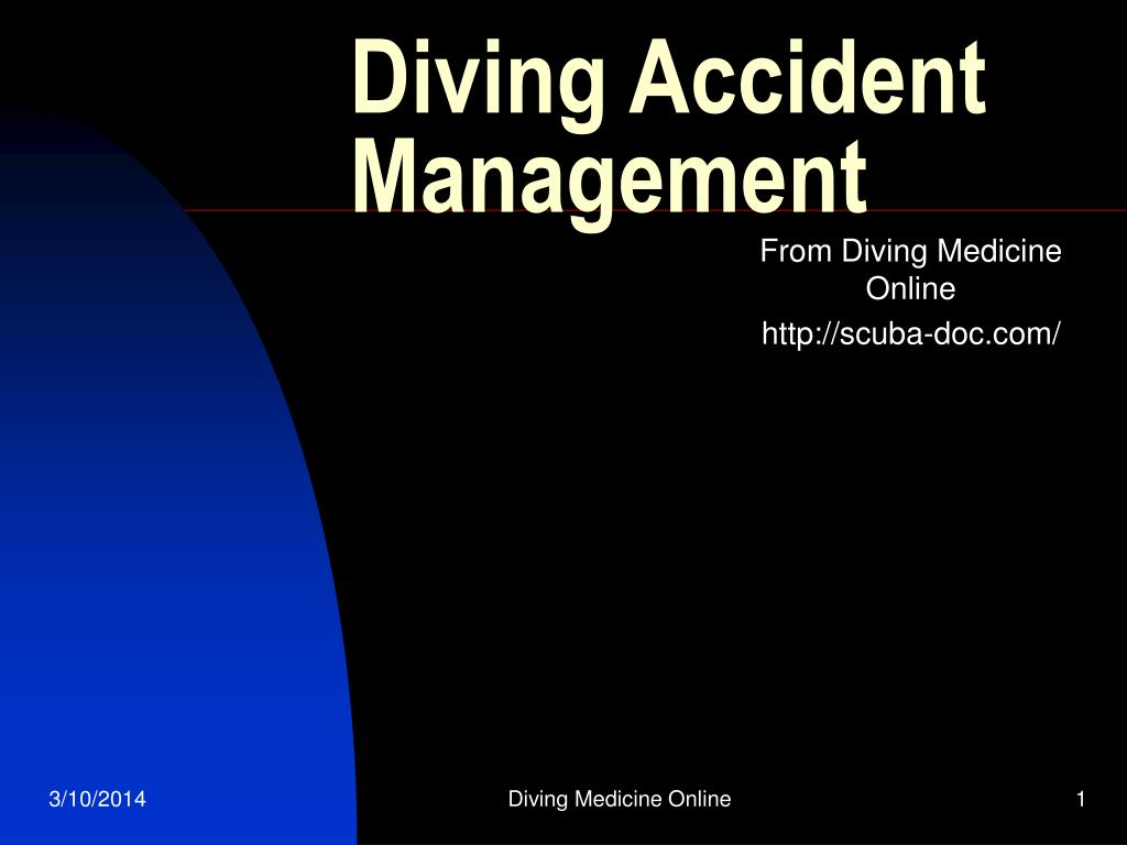 diving accident management l.