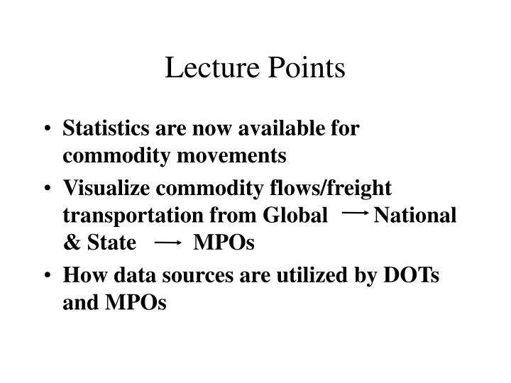 Lecture points