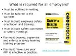 what is required for all employers