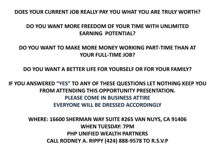 DOES YOUR CURRENT JOB REALLY PAY YOU WHAT YOU ARE TRULY WORTH?