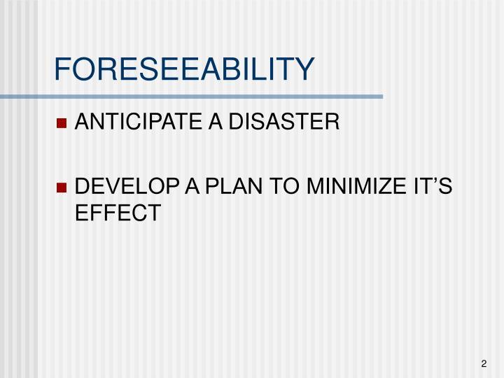 Foreseeability