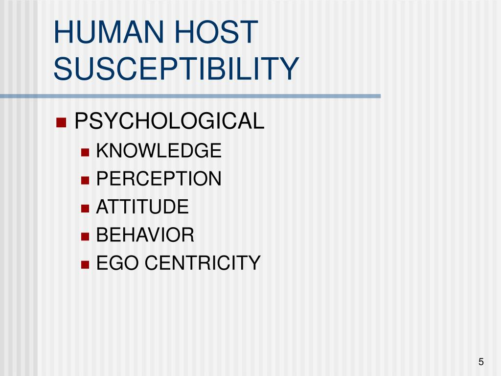 HUMAN HOST SUSCEPTIBILITY