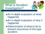 what is accident investigation
