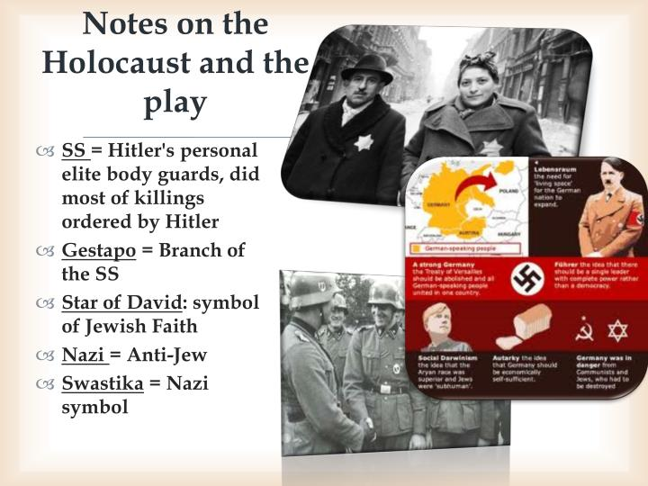 notes on the holocaust The history of the holocaust is a complicated topic about which many volumes were written what is clear, however, is that it took many years to plan and implement the darkest period in jewish history nobel peace prize winner elie wiesel, an award-winning novelist, journalist and human-rights.
