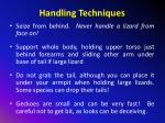 handling techniques1