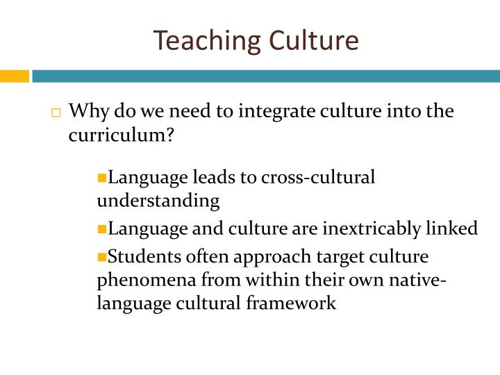 understanding students and their culture