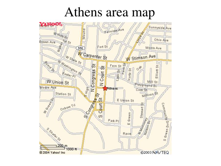 Athens area map