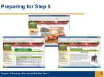 preparing for step 55